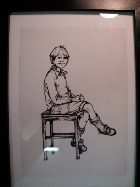 Original Drawing of Luke by Lila Lowenstein