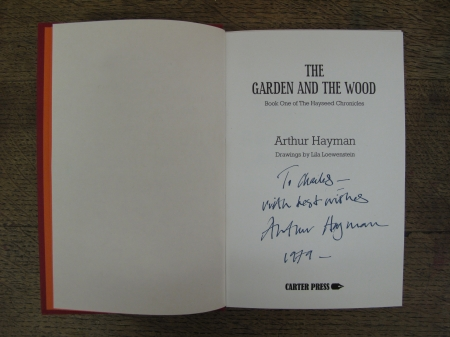Signed First Edition of The Garden and the Wood